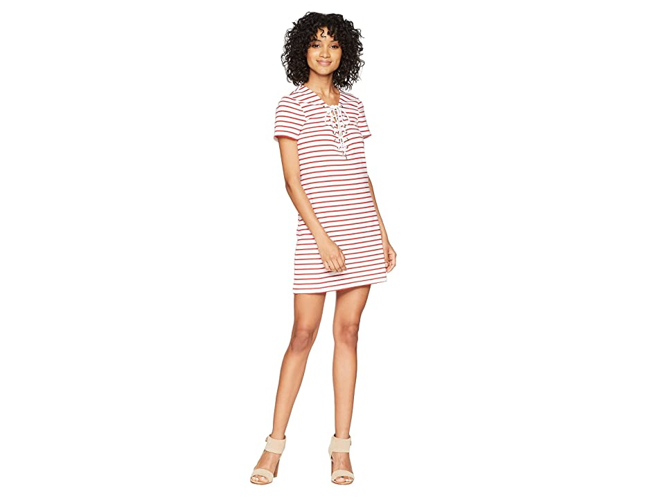 Bardot Stripe Swing Dress (Red Stripe) Women
