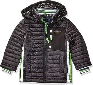 London Fog Boys' Little Active Puffer Jacket Winter Coat, Black Super, 4