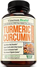Turmeric Curcumin with Bioperine Joint Pain Relief. Anti-Inflammatory, Antioxidant Supplement with 10 milligrams of Black Pepper for Better Absorption. Natural Non-GMO. 60 Capsules