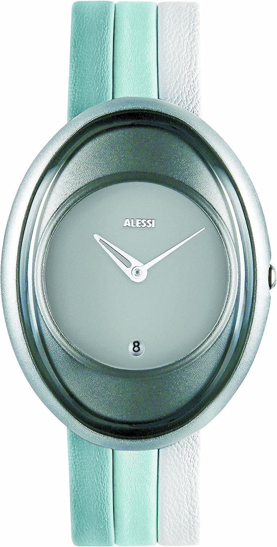Alessi Millenium 372AL19000 - Reloj de Mujer de Cuarzo, Correa de Piel Color