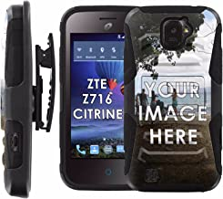 ZTE Citrine Armor Case [Case86] Dual Hybrid Armor Phone Case [Screen Protector] INCLUDED - [1 Personalize Case] for ZTE Ci...