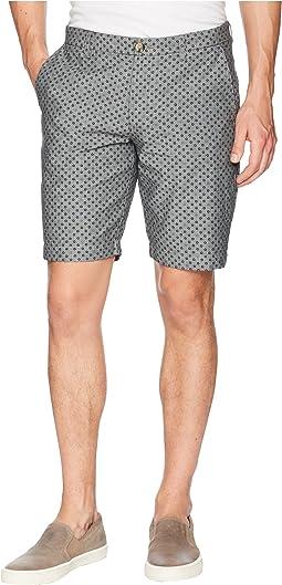 Micro Print Chambray Shorts
