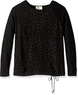 Andrea Jovine Women's Whisper Knit Novelty Sweater with Studs