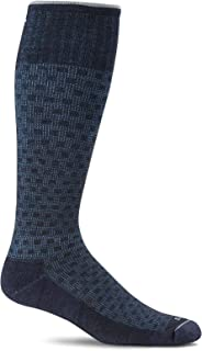 Sockwell Men's Shadow Box Moderate Graduated Compression Socks