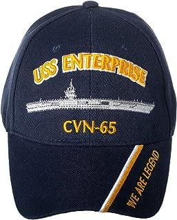 Officially Licensed USS Enterprise CVN-65 Embroidered Navy Blue Baseball Cap