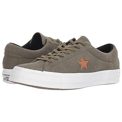 Converse One Star Corduroy Ox (Medium Olive/Burnt Caramel) Shoes