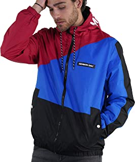 Members Only Men's Asym Color Block Windbreaker Jacket