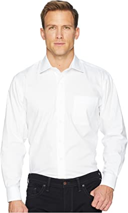 Long Sleeve Magnetically-Infused Solid Pinpoint Dress Shirt- Spread Collar