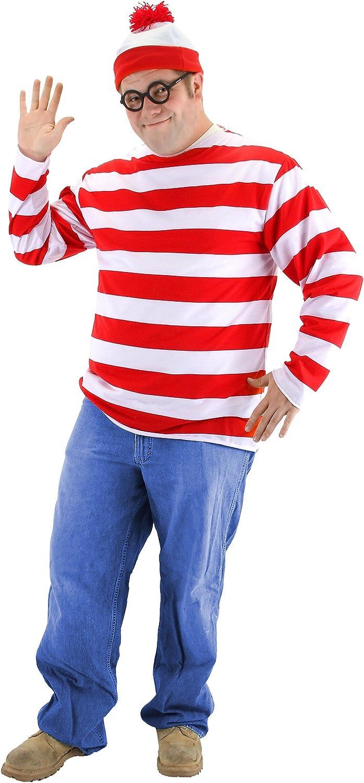 Classic Size Medium 7-8 Wheres Waldo Waldo Costume for Kids