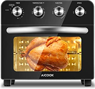 Aicook Air Fryer Toaster Oven Combo 24 QT/6 Slices Convection Toaster Oven Countertop, Roast/Bake/Broil/Fry Oil-Free, Nons...