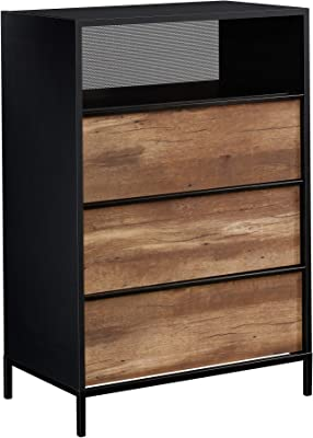 "Sauder Boulevard Cafe 3-Drawer Chest, L: 29.13"" x W: 17.48"" x H: 42.68"", Black"