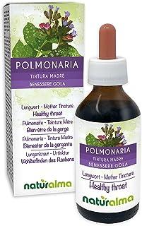 Lungenkraut Pulmonaria officinalis Kraut mit Blüten Alkoholfreier Urtinktur Naturalma | Flüssig-Extrakt Tropfen 100 ml | Nahrungsergänzungsmittel | Veganer