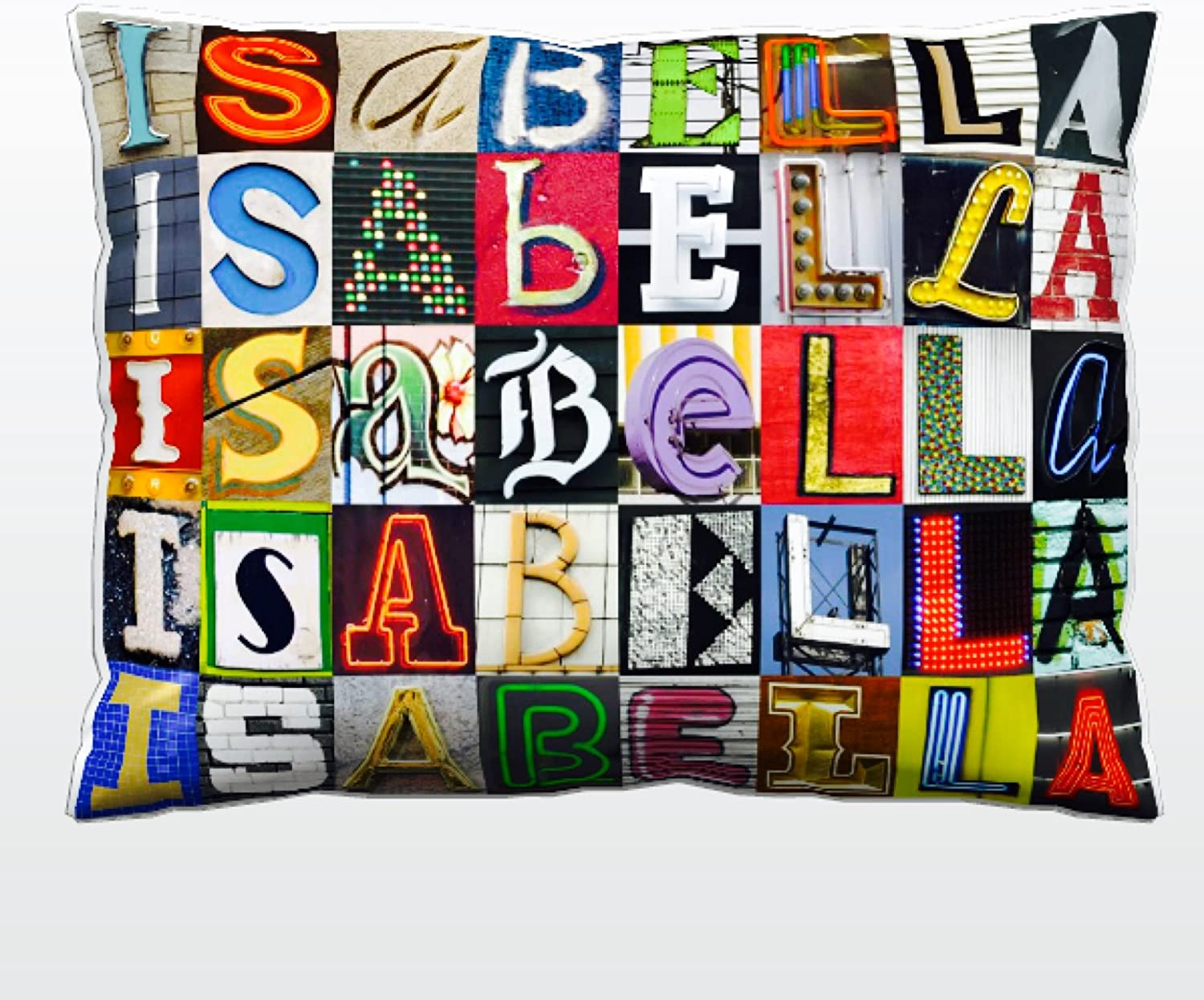 Personalized Pillow featuring the Ultra-Cheap Deals name letter sign p in ISABELLA Luxury goods