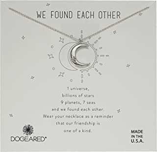 Women's We Found Each Other, Crecent Moon with Crystal Necklace