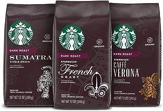 Starbucks Dark Roast Ground Coffee — Variety Pack — 3 bags (12 oz. each)