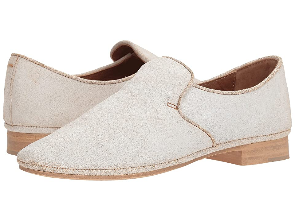 Frye Ashley Slip-On (White Suede Crackle) Women
