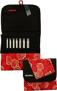 HiyaHiya Interchangeable 4 inch (10cm) Sharp Steel Knitting Needle Set Small Tip Sizes (US 2-8) HISSTINKIT4SM