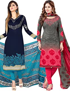 Salwar Studio Women's Pack of 2 Synthetic Unstitched Dress Material Combo-MONSOON-2162-2169