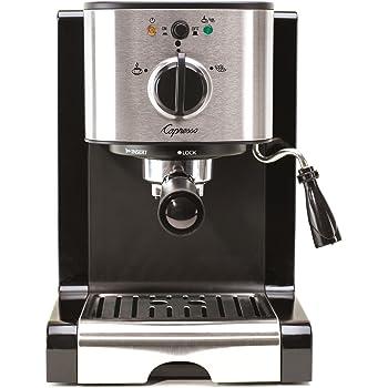 Capresso 116.04 Pump Espresso and Cappuccino Machine EC100, Black and Stainless
