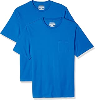 Amazon Essentials Men's 2-Pack Regular-Fit Crew Pocket T-Shirt