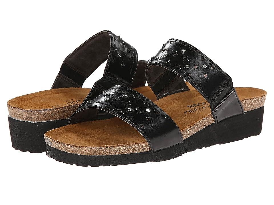 Naot Susan (Black Madras Leather/Glass Brown) Women