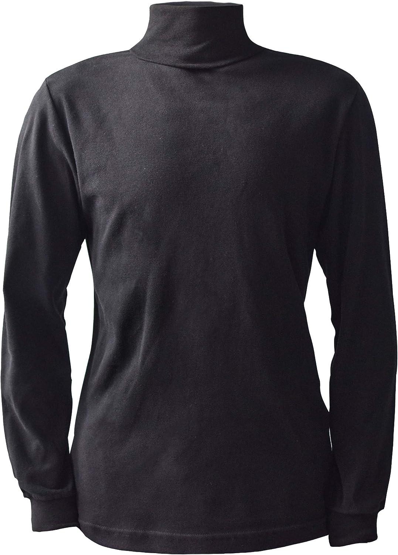 Men's 100% Interlock Knit Combed Cotton Super-Soft Pre-Washed Ski Casual Turtleneck Pullover Sweater
