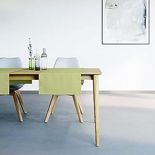 Mistral Home Chemin de Table Vert - 45x145 cm - Linge de Table Anti-Taches au touché Naturel - mélange Coton Polyester - d...