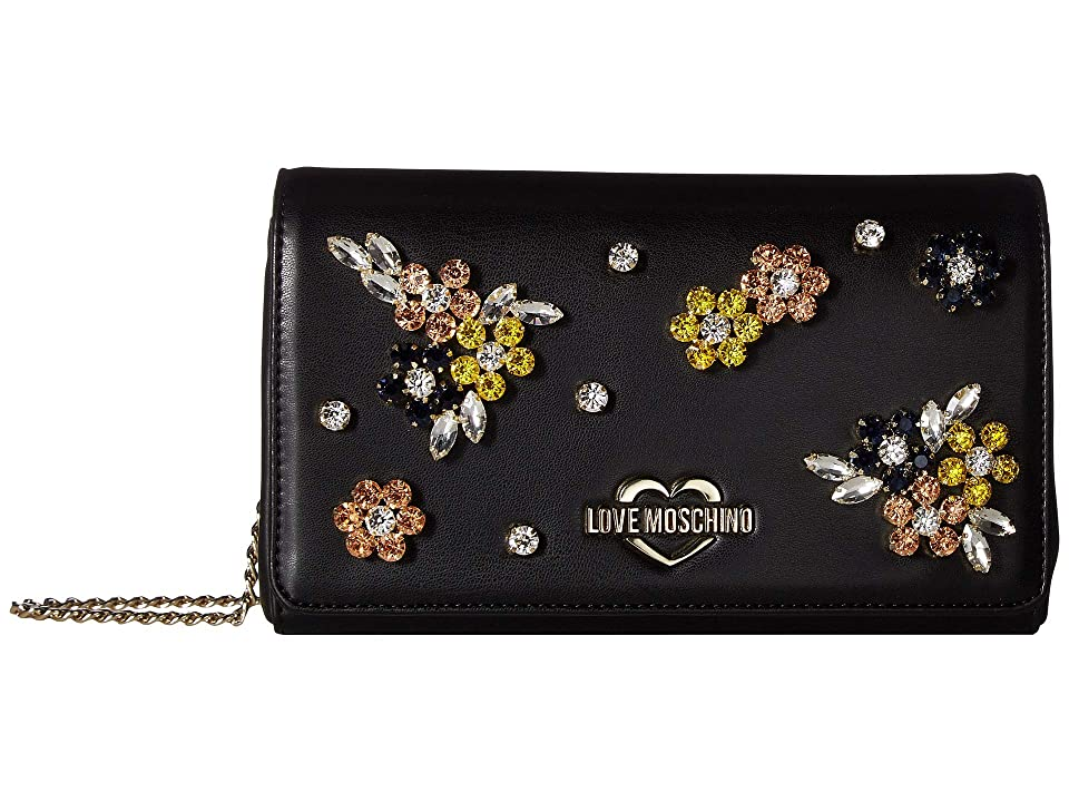 LOVE Moschino - LOVE Moschino Evening Bag with Flower Hardware
