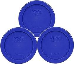 Pyrex 7202-PC 1 Cup Cadet Blue Plastic Replacement Lids - 3 Pack