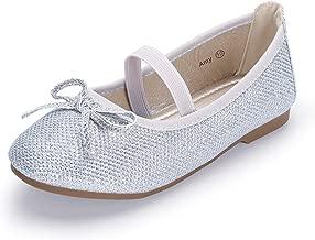 Hehainom Toddler/Little Kid Girl's Mary Jane Dress Shoes Ballerina Flats
