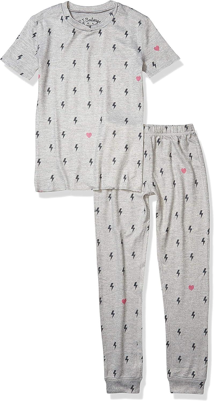 PJ Salvage Kids Girls' Sleepwear Sleeve Albuquerque Mall Top Short Bott San Diego Mall and