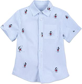 Disney Mickey Mouse Striped Button Shirt for Kids Multi