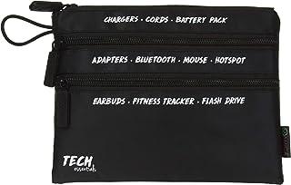 Miamica 3-Zip Organizer Pouch with White Print tech Essentials