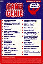 Game Genie Code Update Book for NES - Volume 1 Number 4 (Suplement book with additonal codes not in original manual) (Game Genie Code Update)