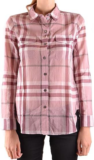 BURBERRY - Camisas - para mujer Rosa: Amazon.es: Ropa