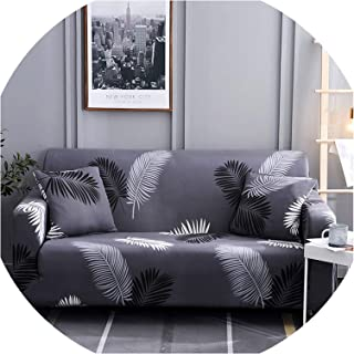 Sofa Coverspandex Slipcover Sofa Elastic Geometric Sofa Cover Universal Couch Cover Sofa Covers for Living Room Funda Sofa,Color 5,Cushion Cover 2Pcs
