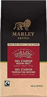 Marley Coffee One Love 100% Ethiopian Coffee, Whole Bean, Medium Roast, 10 Oz (6Count)