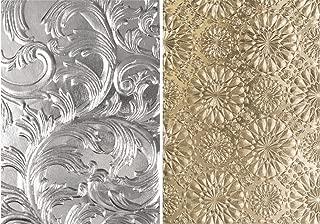 Tim Holtz Sizzix 3D Texture Fades Embossing Folders - Elegant and Kaleidoscope - 2 Item Bundle