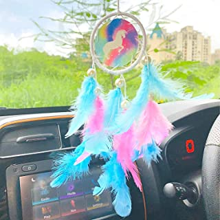 Rooh dream catcher ~ Unicorn Car Hanging ~ Handmade Hangings for Positivity (Can be used as Home Décor Accents, Wall Hangi...