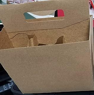 Brown Kraft 150 6 Pack Beer Bottle Holder that fits 12-16oz bottles Sturdy Cardboard Holds six bottles