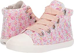 Pink Floral Glitter