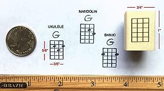 Stampola Mini Ukulele, Mandolin, Banjo Chord Stamp