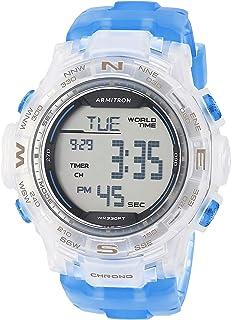 ساعة ارمترون رياضية للرجال بسوار من البلاستيك المطاطي كرونوغراف 40/8410