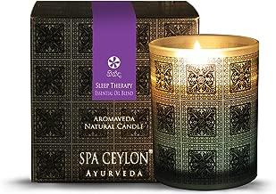 Spa Ceylon Luxury Ayurveda Sleep Therapy Aromaveda Natural Candle - (3 Inch x 3.5 Inch x 3.2 Inch )