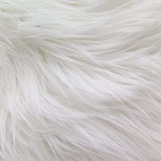 MoHair 60 Inch Faux Fur White Fabric by the Yard (F.E.
