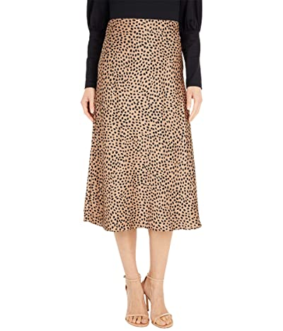 J.Crew Pull-On Slip Skirt in Wild Cheetah (Camel/Black) Women