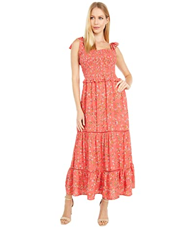 LOST + WANDER Everyday Adventures Maxi Dress (Red/Orange Coral Floral Multi) Women