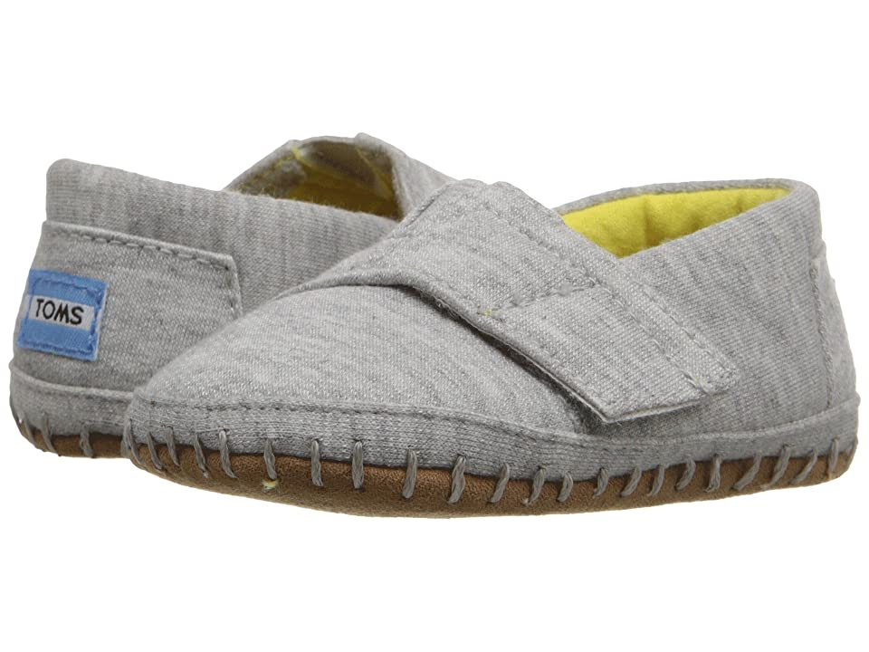 TOMS Kids Crib Alparagata (Infant/Toddler) (Grey Jersey) Kid