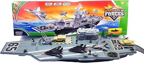 27.5 Inch long Aircraft Carrier with Soldiers and 3 Aircrafts