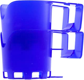 Storage Theory | Poolside Cup Holder | Designed for Above Ground Pools | Only Fits 2 inch or Less Round Top Bar | Blue Color | 2 Pack